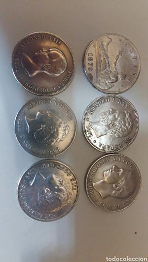 lote monedas plata