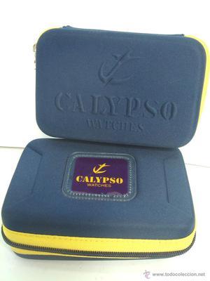 2 ESTUCHES SEMIRRIGIDOS - RELOJ CALYPSO - COMO NUEVOS - CAJA