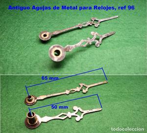 Antiguo Agujas de Metal para Relojes de Pared/Sobremesa, ref