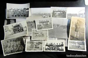 LOTE DE 18 FOTOGRAFIAS ANTIGUAS DE FUTBOL VINTAGE FOOTBALL