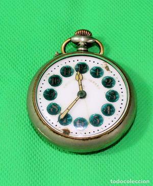 Reloj antiguo de bolsillo. Cronómetro obrero. Corona de 51