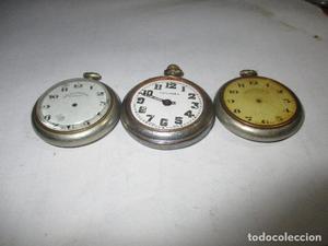 lote de tres relojes roskopf para reparar o piezas