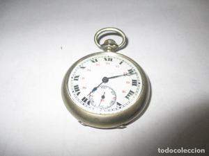 reloj de bolsillo escape de cilndro 10 rubi 45 mm