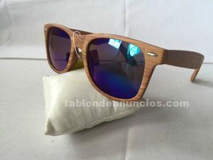Gafas de sol estilo madera