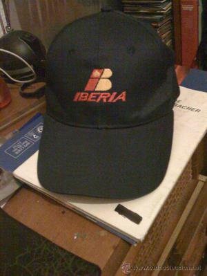 Gorra de Iberia Líneas Aéreas. Bordada. Nueva sin