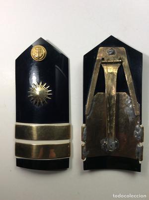 Palas baquelita de capitán de intendencia de la Armada,