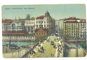 Postal Bilbao Puente Arenal Sob Bilbaina