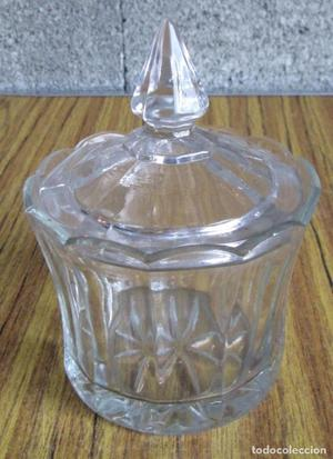 AZUCARERO de vidrio labrado