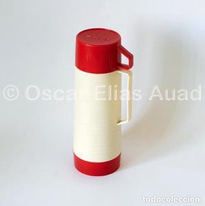Antiguo termo para líquidos. De tres piezas. Marca