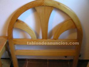 Cabecero de pino para cama de 90 cm