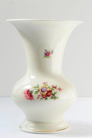 Florero de porcelana alemana de bavaria. 21 CM