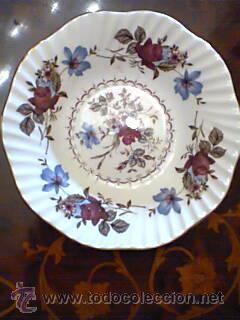 Pequeño plato de porcelana inglesa bone china