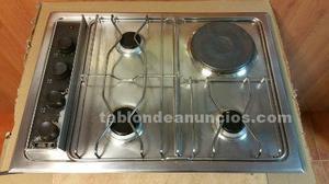 Placa cocina teka fogones 3 gas 1 el ctrico posot class - Placa cocina gas ...