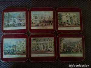 Posavasos - juego de 6 posavasos con escenas de Londres