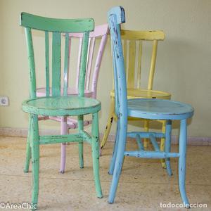 3 sillas isabelinas antiguas de haya tapizado posot class - Tapizado de sillas antiguas ...
