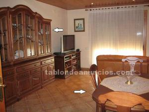 Vendo conjunto de muebles rusticos de madera y cama de