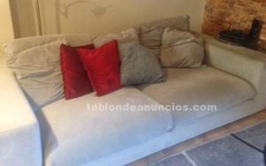 Vendo sofá gris plumón moderno.ocasion