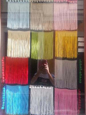 flecos fleco mantones para manton de manila rojo. verde.