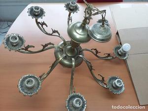 lampara de techo de 8 brazos