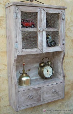 mueble especiero de madera vintage,,, mue365