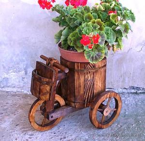 Carretilla de madera decoraciones para jardin murcia for Carretilla de madera para jardin