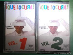 2 CINTAS DE CASSETTE - CASETE - Que Locura Vol. 1 y Vol. 2 -
