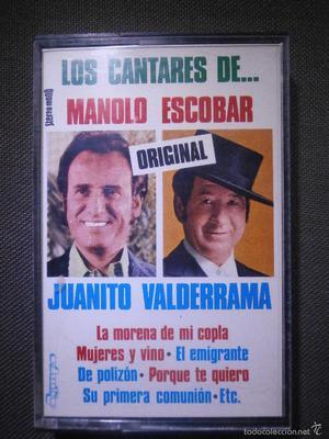 CINTA DE CASSETTE - CASETE - Los cantares de manolo Escobar