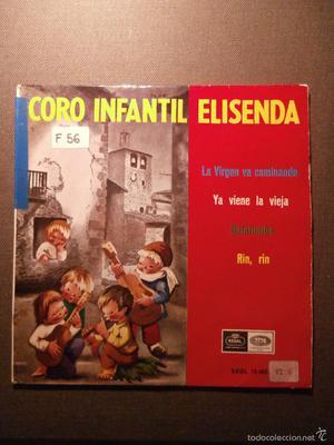 DISCO - VINILO - EP - VILLANCICOS - CORO INFANTIL ELISENDA -