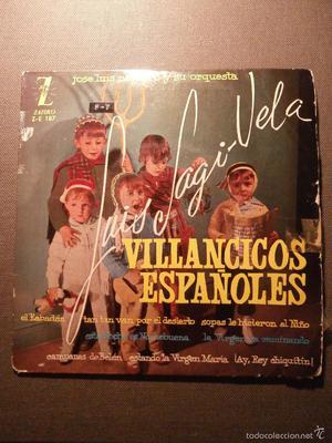 DISCO - VINILO - EP - VILLANCICOS ESPAÑOLES - LUIS SAGI -