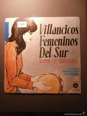 DISCO - VINILO - EP - VILLANCICOS FEMENINOS DEL SUR - CORAL