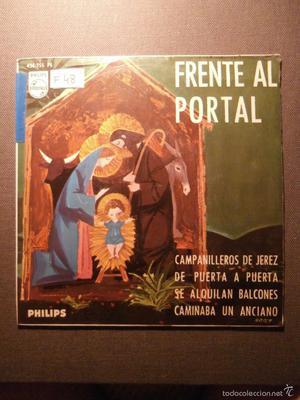 DISCO - VINILO - EP - VILLANCICOS - FRENTE AL POTAL - RAFAEL