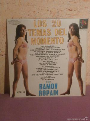 DISCO - VINILO - LP - LOS 20 TEMAS DEL MOMENTO - CON RAMON