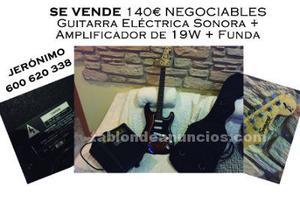 Guitarra electrica sonora+amplificador 20w+funda