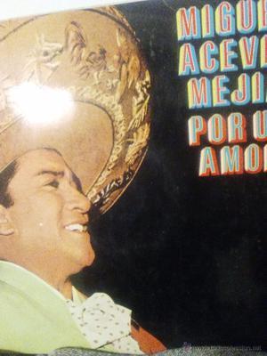 Miguel Aceves Mejías disco LP de larga duración de 12
