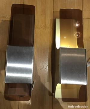Apliques de aluminio y cristal
