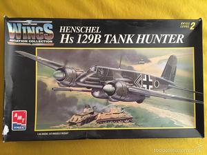 HENSCHEL HS-129B Tank Hunter 1:48 AMT  maqueta avión