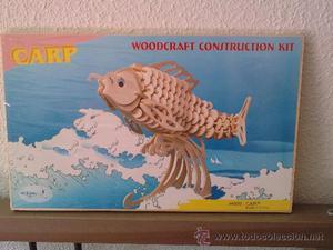 Maqueta PEZ (Carpa) de madera para Montar. Puzzle 3d