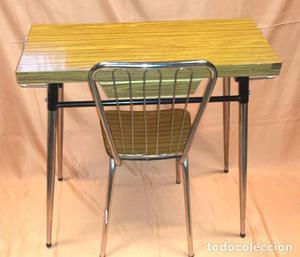 Glivarp mesa extensible transparente cromado posot class - Mesa cocina vintage ...