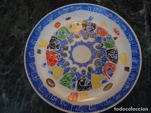 Plato Última Cena en porcelana. Parecido a Sargadelos.