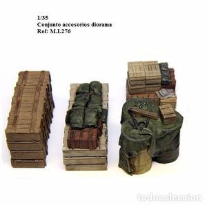 WWII CAJAS MANTAS BIDONES MOCHILAS ACCESORIOS DIORAMA 1/35