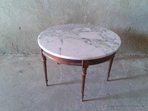 mesa de mármol antigua estilo Luis XVI mesa auxiliar