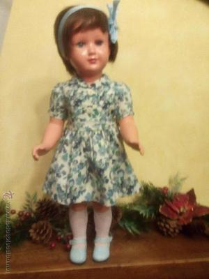 Antigua muñeca alemana Tortuga Nº 53 en rhodoid 52cms