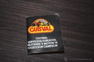 Antiguo a estrenar mini Catálogo de Guisval .