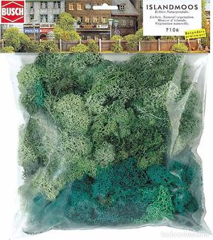 Busch  Musgo de Islandia, color verde. 150gr. Valido