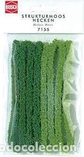 Busch  Seto verde claro y oscuro de 10 mm de altura, 100