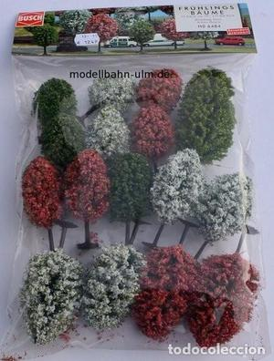 Busch  Surtido de 16 arboles ornamentales,