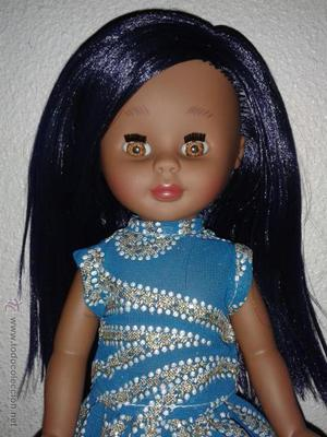 Muñeca negra o negrita Kika.