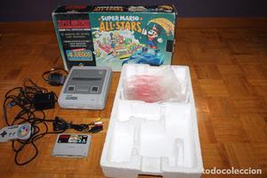 Super Nintendo Completa Consola Caja Corchos 1 mando cables