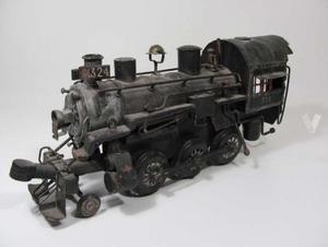 Vintage Juguete Locomotora De Lamina A Vapor