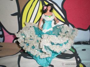 antigua muñeca folclorica miniatura MARIN COLECCION